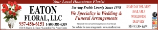 We Specialize in Wedding & Funeral Arrangements
