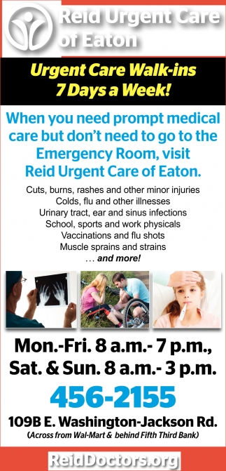 Urgent Care Walk-ins 7 Days a Week!