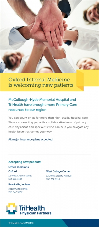 Oxford Internal Medicine is welcoming new patients