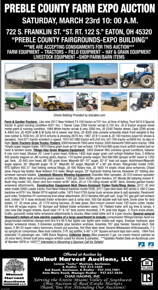Preble County Farm Expo Auction