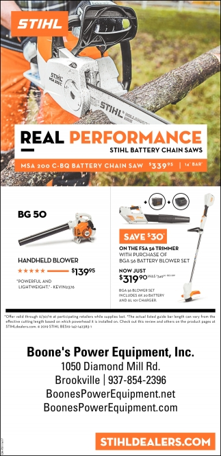 Real Performance - Sthil Battey Chain Saws
