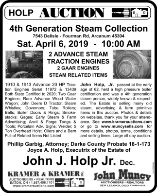 Holp Auction - 4th Generation Steam Collection