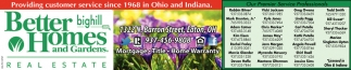 Providing customer service since 1968 in Ohio and Indiana