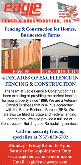 Fencing & Construction for Homes, Businesses & Farms