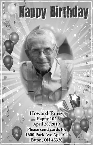 Happy Birthday Howard Toney