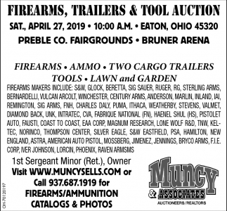 Firearms, Trailers& Tool auction