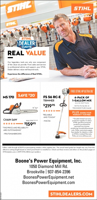 Stihl Dealers Days - Real Value