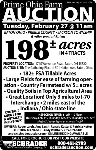 Prime Ohio Farm Auction