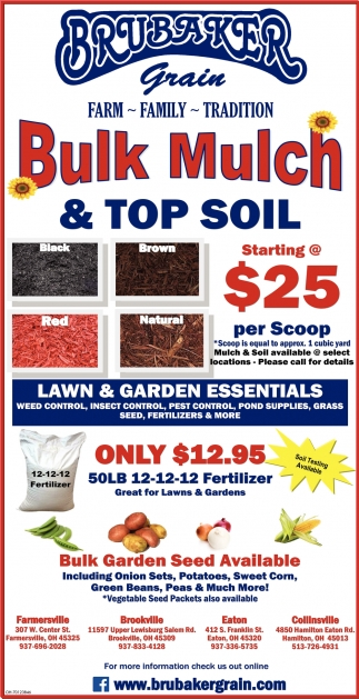 Bulk Mulch & Top Soil