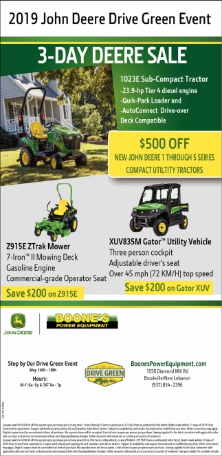 2019 John Deere Drive Green Event