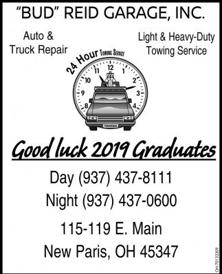 Good Luck 2019 Graduates