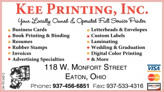Your Locally Owned & Operated Full Service Printer
