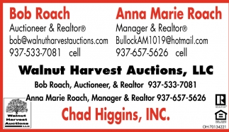 Bob Roach, Auctionner & Realtor / Anna Marie Roach, Manager & Realtor