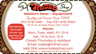 Western Wear - Equipment