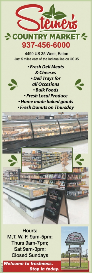 Welcome to freshness. Stop in today