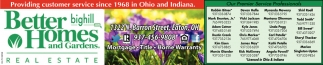 Providing customer service since 1968 in ohio and indiana - Better homes and gardens customer service ...