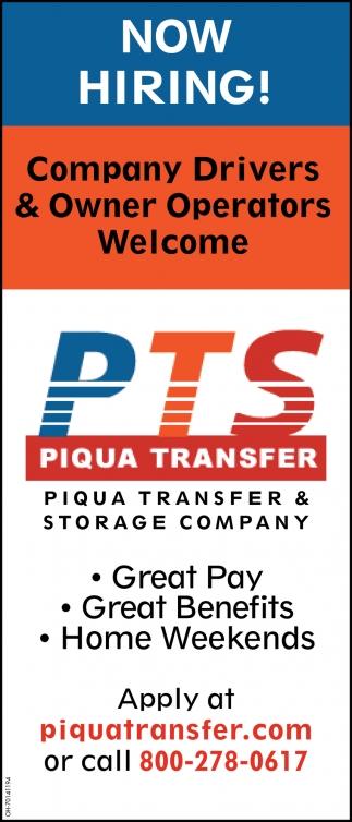Company Drivers & Owner Operators
