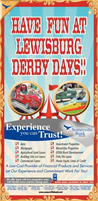 Have Fun At Lewisburg Derby Days!