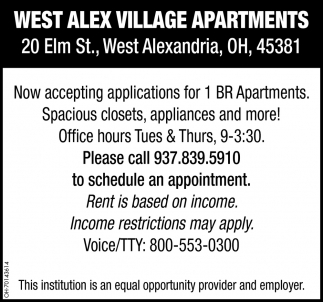 1 BR Apartments