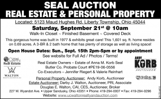 Seal Auction - Real Estate & Personal Property Auction