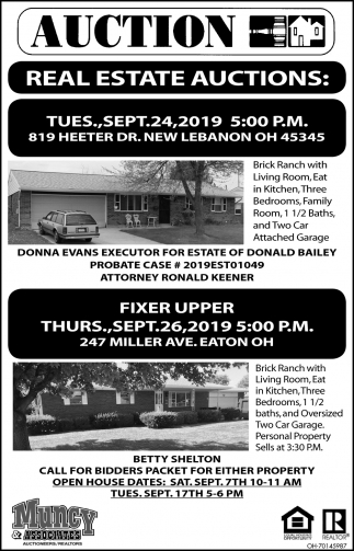 Real Estate Auctions - 24 / Sept. 26