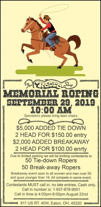 Memorial Roping - September 29