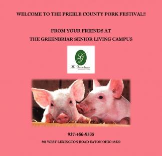 Welcome to The Preble County Pork Festival!