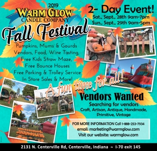 Fall Festival - Sept 28th - 29th