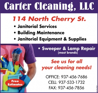 See us for all your cleaning needs!