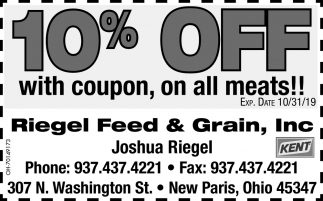 10% off with coupon, on all meats!