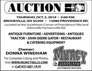 Auction - Oct 3