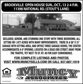 Open House - 11398 National Rd.