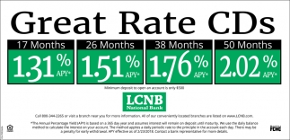Great Rate CDs