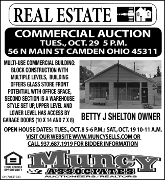 Commercial Auction - Oct. 29
