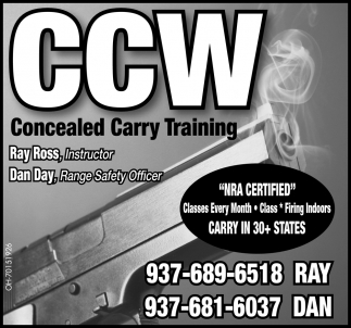 Ray Ross, Instructor / Dan Day, Range Safety Office