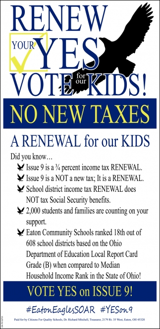 Renew Your Yes - Vote Kids!