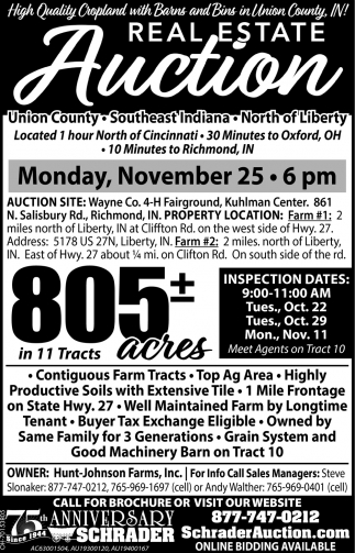 Real Estate Auction - November 25