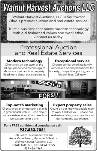 Professional Auction and Real Estate Services