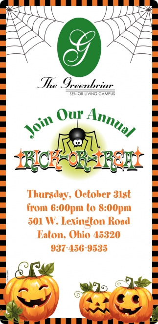 Join Our Annual Trick or Treat