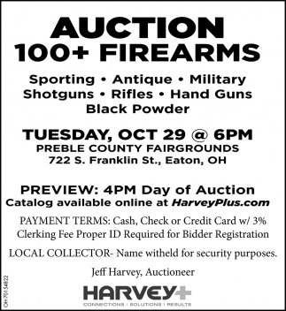 Auction 100+ Firearms - Oct 29
