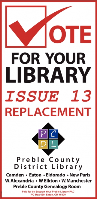 Vote for you Libray - Issue 13 Replacement