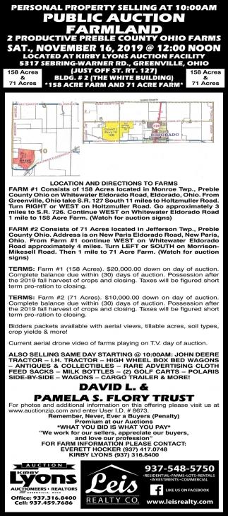 Public Auction Farmland - November 16th