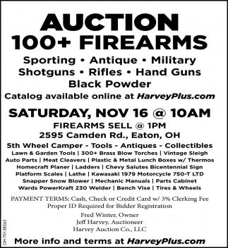Auction 100+ Firearms - Nov 16