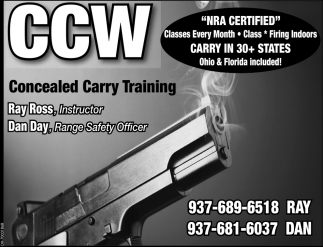 NRA Certified, CCW Concealed Carry Training
