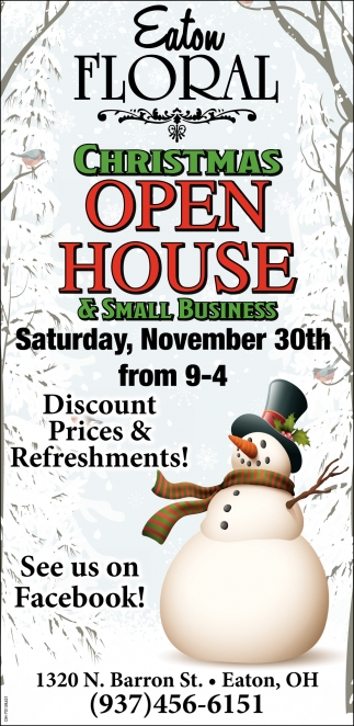 Christmas OpenHouse - November 30th