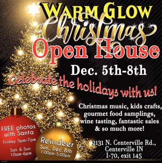 Christmas Open House - Dec. 5th - 8th