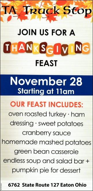 Thanksgiving - November 28