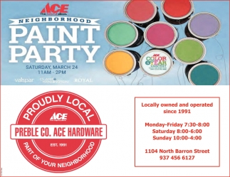 Neighborhood Paint Party