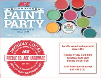 Neighborhood Paint Party