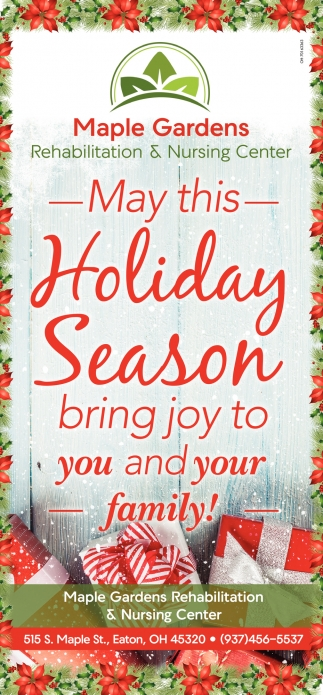 May this Holiday Season bring joy to you and your family!